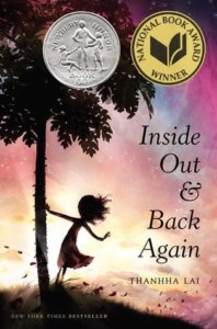 Kids reading Inside out and back again