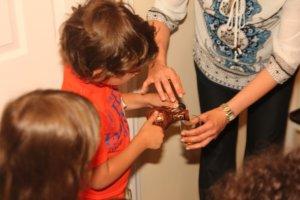 Josh pouring Olive oil